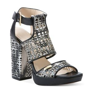 Calvin Klein Gray Vallin Platform City Sandals 7.5